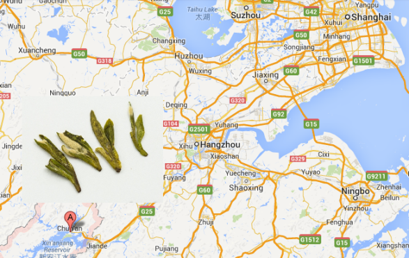 Location of Wild Spring Green Long Jing Tea