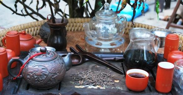 Ripened (fermented) Pu Er Tea prepared in my Gong Fu Cha