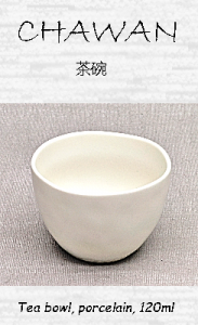 Japanese Chawan (Teacup), porcelain, white, 120ml