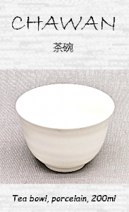 Japanische Teeschale, weiß, Porzellan, 200 ml