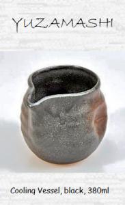 Japanese tea water cooling vessel, black, 380ml