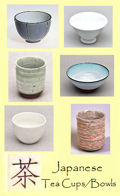 Japanese teacups / tea bowls / tea mugs