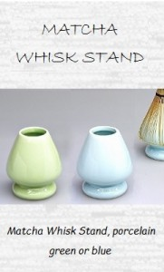 Porcelain Matcha Whisk Stand, green or blue