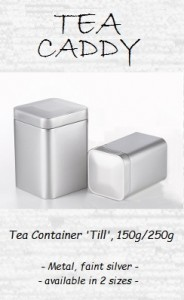 Tea Container 'Till', 150g / 250g, metal, faint silver