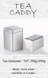 Tea Container 'Till', 150g / 250g, metal, faint silver
