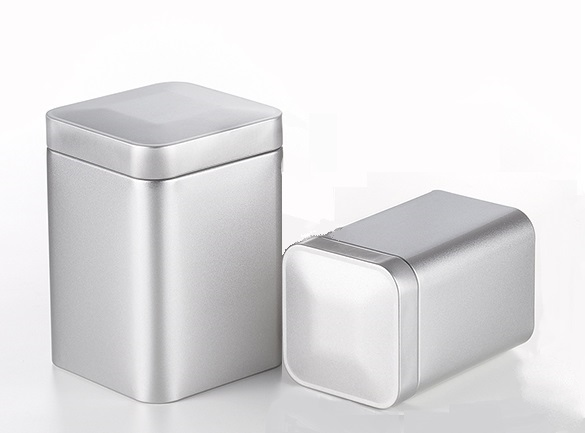 Tea Box 'Till', 150g / 250g, metal, faint silver