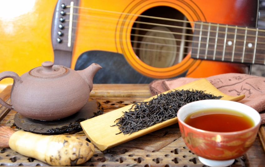 Lapsang Souchong Black Tea, unsmoked, from Zhengshan area, Wuyi Mountain, Fujian province, China